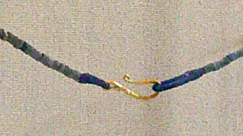 Bactrian, -3000 BC, lapis necklace, S gold clasp